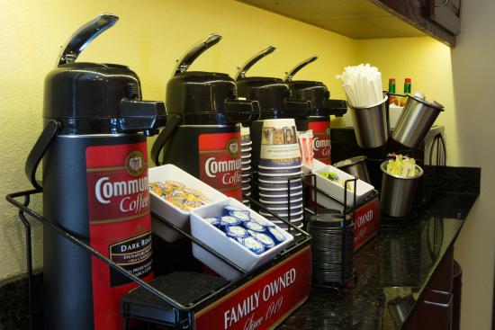 Duncanville, TX: Coffee in the morning?  We serve Community Coffee in our breakfast area and Seattle's Best in yo