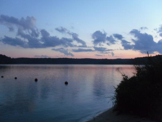 Blanchardville, WI: Beach at sunset