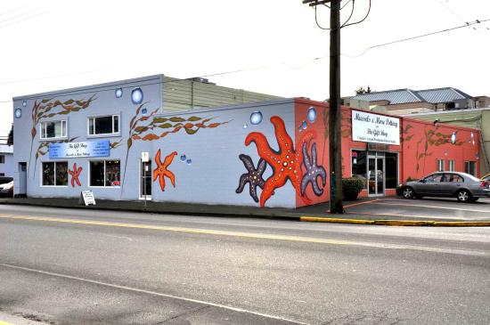 Campbell River, Kanada: Murals painted by Jan Sell