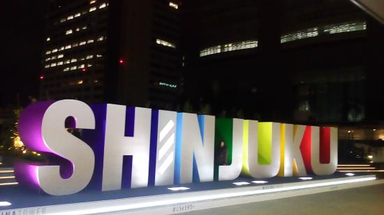 Apartment Hotel Shinjuku: new south gate JR by night