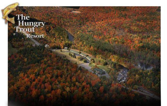 The Hungry Trout Resort: Aerial View in the Fall!