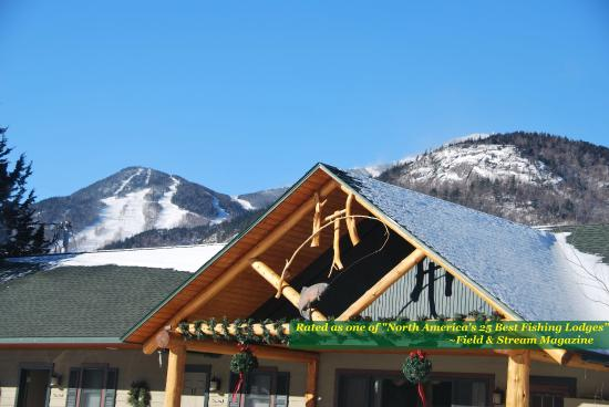 The Hungry Trout Resort: 10 acre property directly on the Ausable River overlooking neighboring Whiteface Mtn