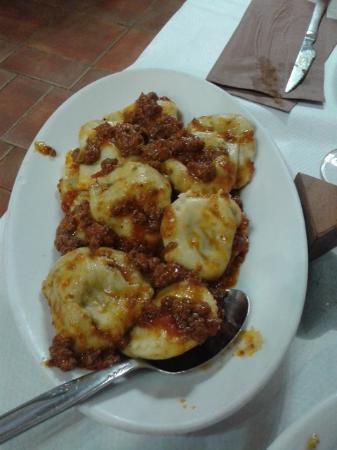 Επαρχία Λούκα, Ιταλία: Tortelli al ragù alla lucchese e tortelli ripieni di carciofi conditi con pancetta e pecorino.