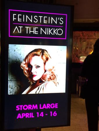 Feinstein's at the Nikko: My sister, Jeanine, and Phil had tickets for Storm Large's sold out show when I arrived from MN