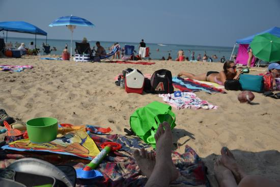 Chesterton, IN: view of the beach