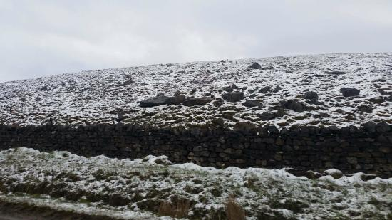 Grassington, UK: Snow in April