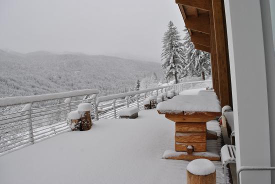 terrazza in inverno - Foto di Centro Benessere Corte Spa, Borca di ...