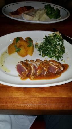 Bethesda, MD: Seared Ahi Tuna with roasted beets and kale salad.