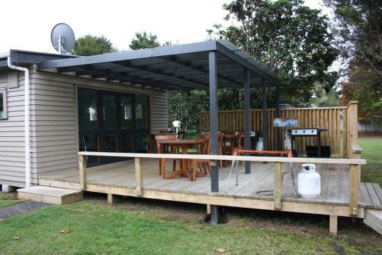 Turangi, Nieuw-Zeeland: kitchen for campers