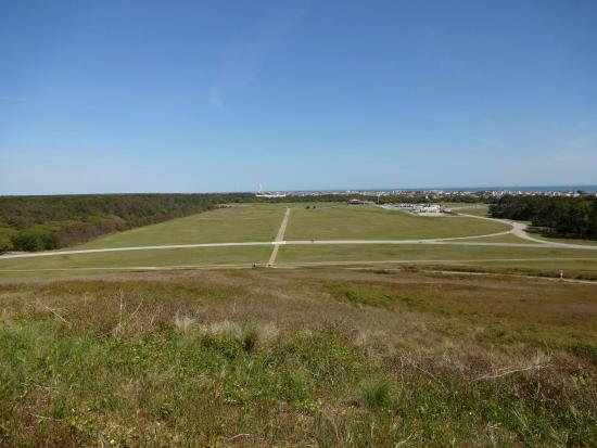 Wright Brothers National Memorial: The view down from the monument.