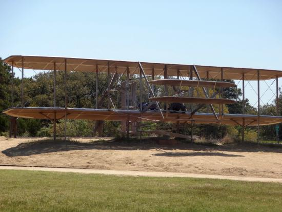 Wright Brothers National Memorial: A replica of one of the planes.