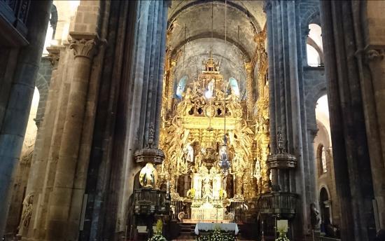 Interior catedral santiago compostela foto de - Interior santiago de compostela ...