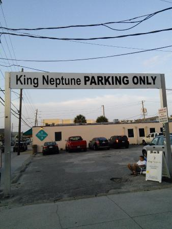 King Neptune Parking Across The Street