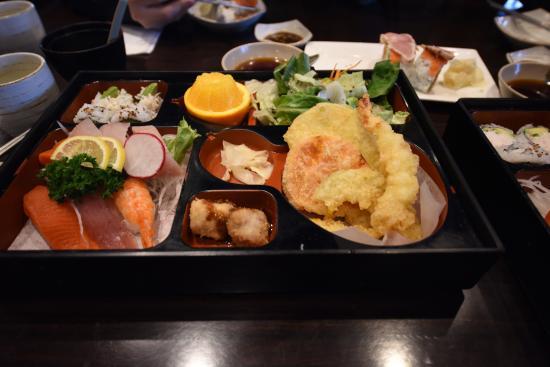 Nori Japanese Restaurant Salmon Susho Bento Box