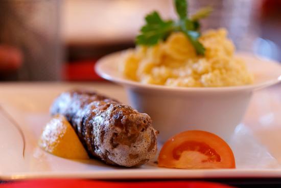 Crest-Voland, França: andouillette polenta