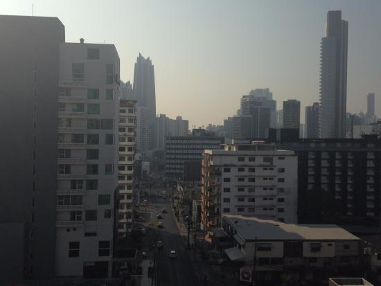 Hotel el Parador: Vista desde el ultimo piso la amplia zona de terraza