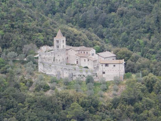 Abbazia di san Casciano: Dalla terrazza dei giardini di Narni