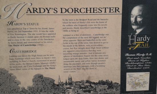 Dorset, UK: Statue information board