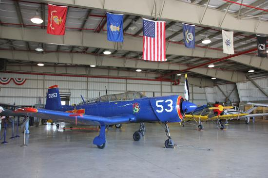 Part of interesting collection of piston aircraft - Picture