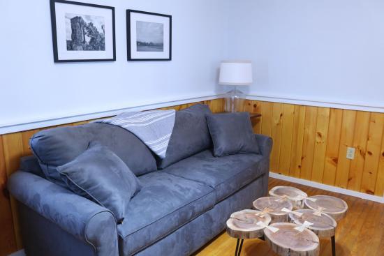 Romulus, NY: cabin interior