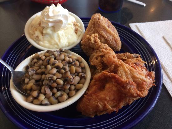 Fried Chicken Purple Hull Peas And Banana Pudding Picture Of The