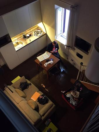 La Gensola in Trastevere : The living space from the second floor (apt #4)