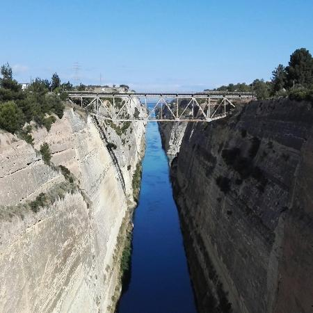 IsthmusCorinth canalBreathtaking Picture of Ancient Greece