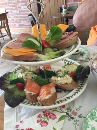 Tuxford Windmill and Tea Room: Afternoon tea for two people.