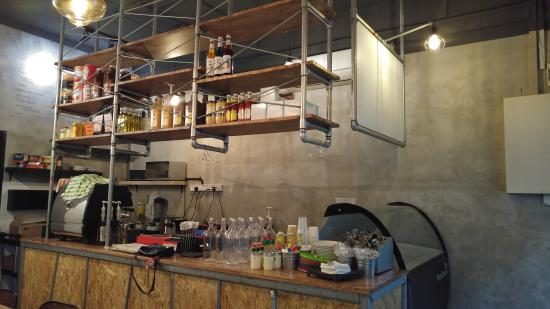 hanging pipe shelves picture of the workbench bistro singapore