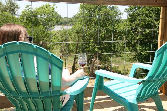 Lolita, TX: Wonderful view of the Lavaca River from the deck