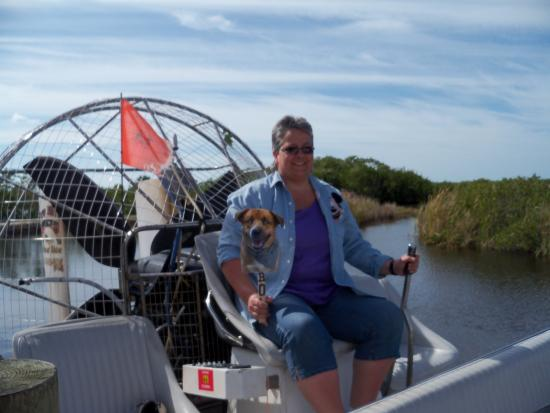 I got to drive the boat! (J/K   it was off) - Picture of