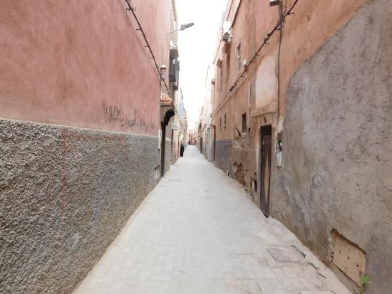 Riad l'Oiseau du Paradis: la ruelle de l'entée
