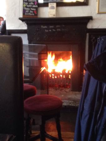 Royal Oak Inn: Nice log fire for a cold day!
