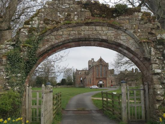 Lanercost, UK: St Mary Magdalene Church from the Priory Gatehouse