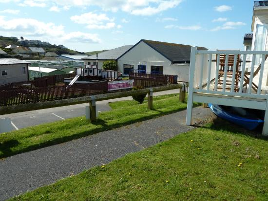 Parkdean - Challaborough Bay Holiday Park: View from my unit on raised area. Pity