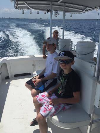 Florida: 13 year old and 9 year old had a blast bringing up fish all afternoon.