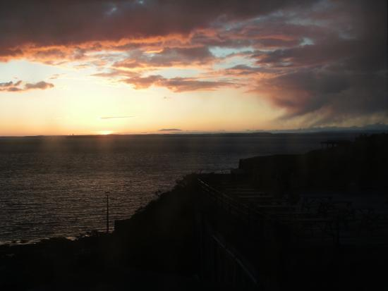 Anchor Head Hotel: sunset from window
