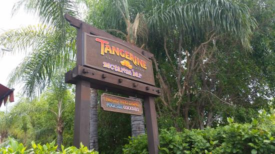 Tangerine Grill: The pool/patio entrance.