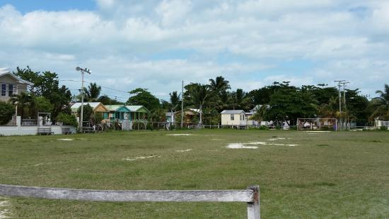 Sandy Lane Guest House & Cabanas: Soccer field across from hotel