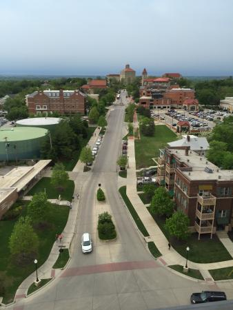 Lawrence, KS: View of the University from `The Nest' located on the roof of the hotel