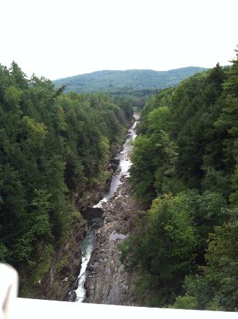 Quechee, VT: View of gorge