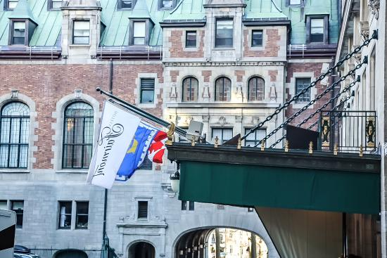 Front Entrance In The Chateau Frontenac Courtyard