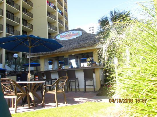 Holiday Inn At The Pavilion Tiki Bar Outside Hotel Pool