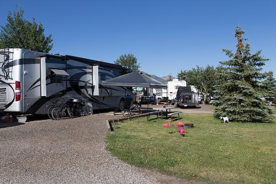 Island Park, ID : Big Rigs fit well in our park.
