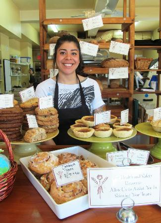 With the Grain : The amazing Elly at the Bakery! Say hi next time you're in!