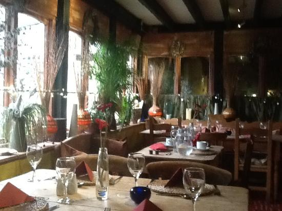 Lostwithiel, UK: The restaurant area