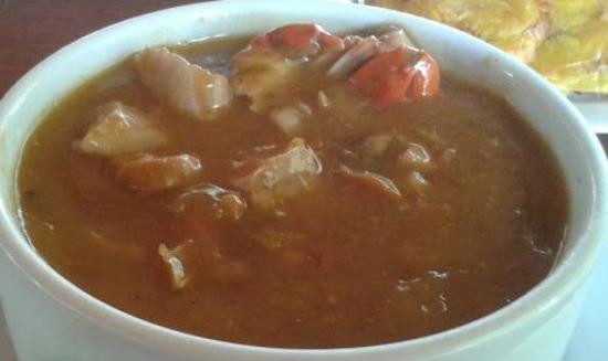 Santa Rita, Venezuela: Sopa de mariscos. Sorbo a sorbo vas disfrutando de los aromas, los colores de cada ingrediente.
