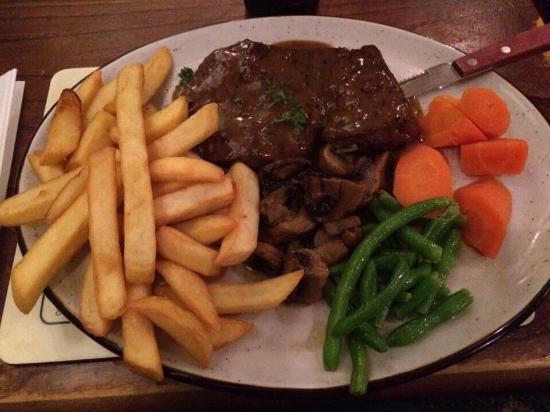 Shorties Restaurant: A delicious steak