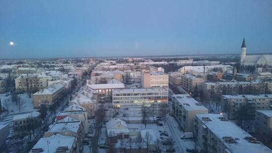 Siauliai, Litauen: Cold winter´s morning