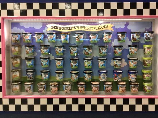 Waterbury, VT: Ben and Jerry's flavors